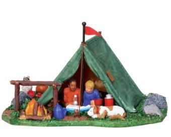 tent back yard figurine